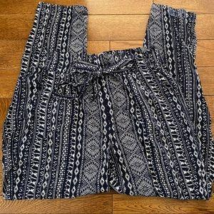 Pattern paper bag pants